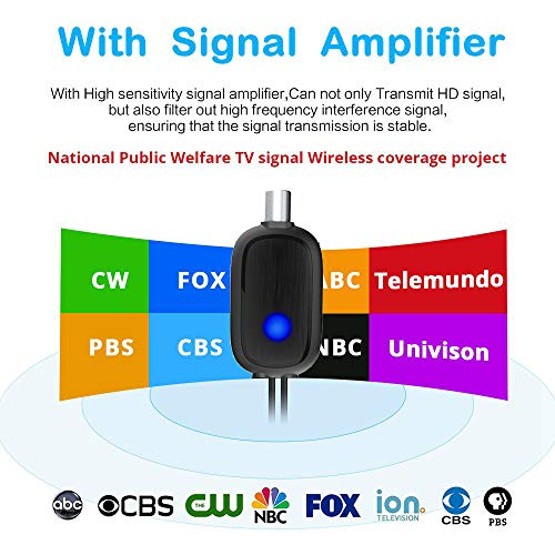 TV Antenna, [2019 Latest] Indoor Digital HDTV Amplified Television Antenna  Freeview 4K 1080P HD VHF UHF for Local Channels 120 Miles Range with Signal