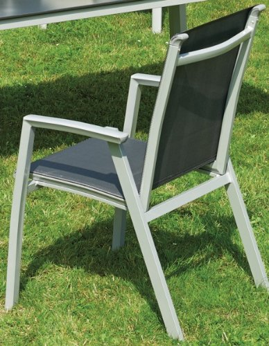 Stapelsessel Aluminium Stuhl Gartenmöbel Galileo Ruby silber