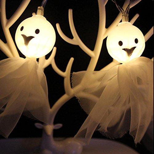 Halloween Lights, Ghost String Lights, 10 LED String Lights Ghost Blinking Lights for Halloween Decorations