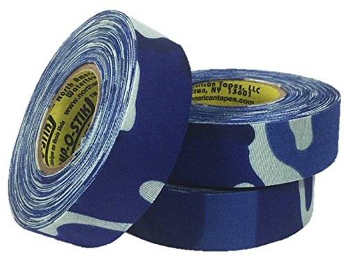 3 Rolls of Comp-O-Stik Blue Camouflage Hockey Lacrosse Bat Cloth Stick Tape ATHLETIC TAPE (3 Pack) Made In The U.S.A. 1'' X 60' by Comp-O-Stik