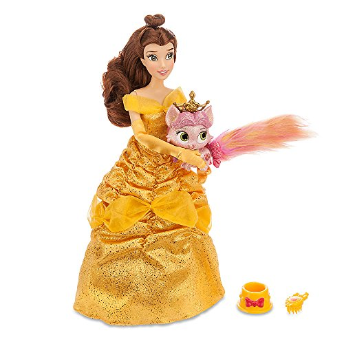 [Disney Princess Beauty and the Beast Belle and Rouge Palace Pet Doll and Figure Set] (Cave Baby Girl Costumes)