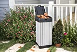 Keter Rockford Resin 38 Gallon Trash Can with Lid