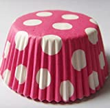 """Pink Polka Dot print Muffin Cupcake Liners Paper case birthday Baking Cups 500 pcs,Standard Size 3"""""""