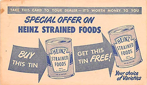 Advertising Post Card Heinz Coupon 1947]()
