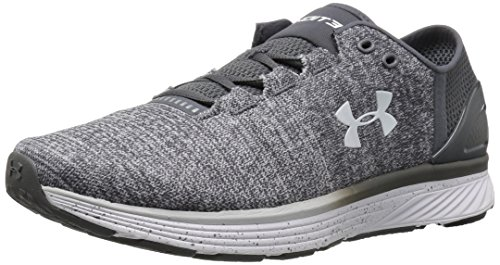 95668e32d6 Under Armour Men's Charged Bandit 3 Running Shoe, Glacier (002)/Rhino Gray,  12