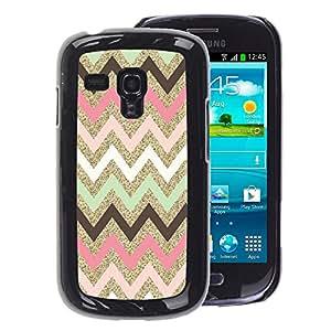 A-type Arte & diseño plástico duro Fundas Cover Cubre Hard Case Cover para Samsung Galaxy S3 MINI 8190 (NOT S3) (Indian Pattern Native Pink)