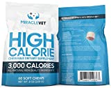 Miracle Vet Weight Gaining Chews for Dogs (60 Chews) — 3,000 Calories per Bag