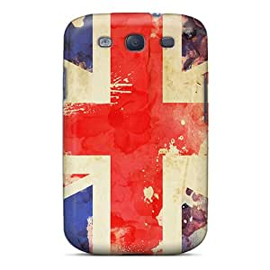 For JackieAchar Galaxy Protective Case, High Quality For Galaxy S3 Britain Flag Skin Case Cover