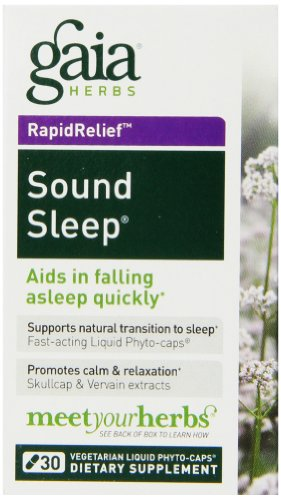 (Gaia Herbs Sound Sleep, Vegan Liquid Capsules, 30 Count (Pack of 2) - Herbal Sleep Aid, Promotes Relaxation & Aids Falling Asleep Quickly, Organic Kava Kava, Valerian)