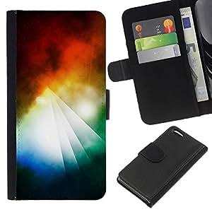All Phone Most Case / Oferta Especial Cáscara Funda de cuero Monedero Cubierta de proteccion Caso / Wallet Case for Apple Iphone 5C // Abstract Colorful Pyramid