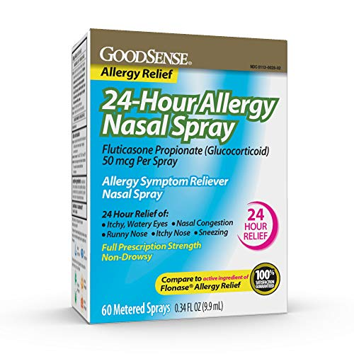 Good Sense 24-Hour Allergy Nasal Spray for Runny Nose & Allergy Relief