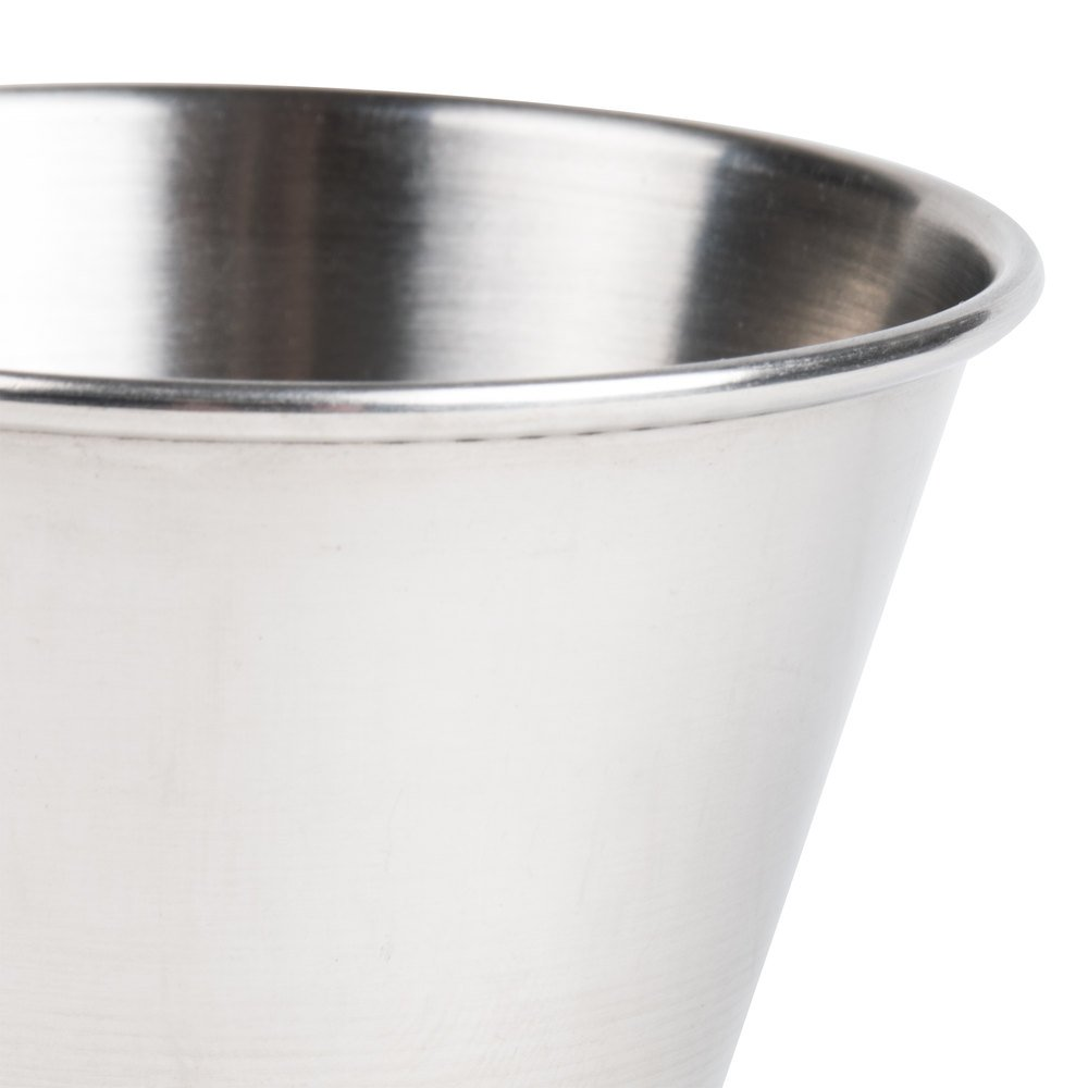 (12 Pack) Stainless Steel Sauce Cups 4 oz, Commercial Grade Dipping Sauce Cups, Individual Condiment Sauce Cups / Ramekins by Tezzorio by Tezzorio Tabletop Service (Image #4)