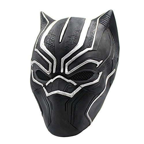 Party Mask Full Face Black Panther Masks Movie Cosplay Latex rubber Party Props
