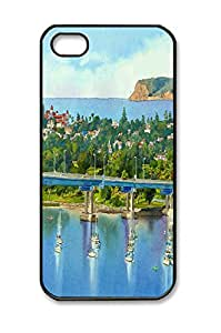 Custom Iphone 5 Case,Iphone 5S Case,City bridge painting as Iphone 5 Cases,Iphone 5S Cases,