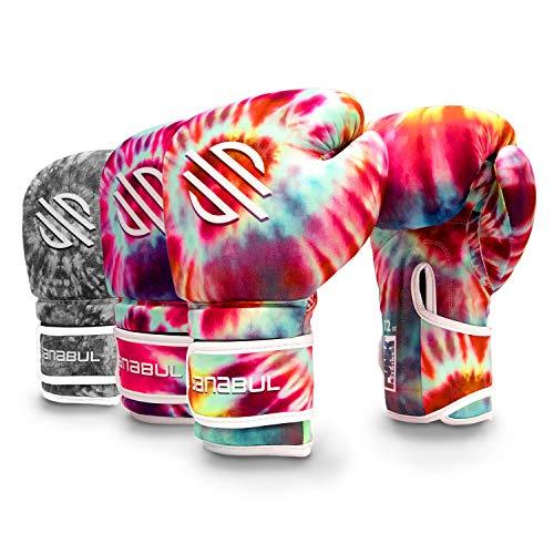 Sanabul Funk Strike Tie Dye Gel Boxing Kickboxing Training Gloves (Classic Swirl, 16 oz)