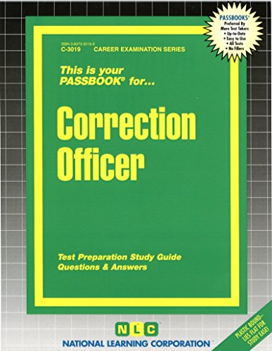 Correction Officer(Passbooks) (Career Examination)