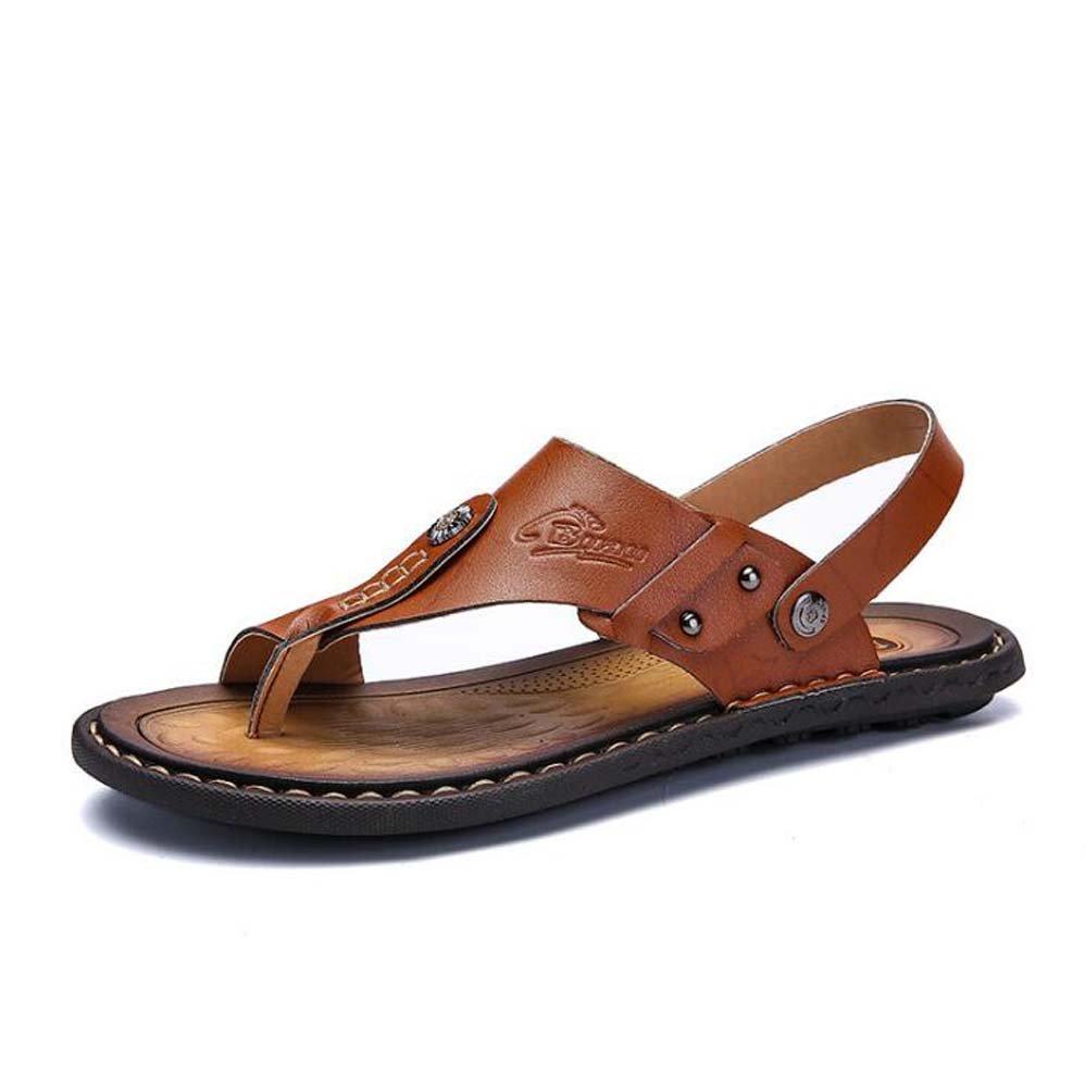 Herren Sandaleen Tide Clip Füße Wort Sandaleen und Hausschuhe Blau/Braun/Gelb Größe 38-47 Outdoor