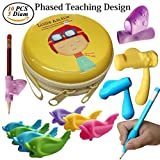 #1: Pencil Grips,Tanbt Writing Correction Device Pencil Grips for Kids Handwriting Fish Dolphin Soft Writing Training Grip Holder Pen Claw Aid for Kids Student Kindergarten Writing Corrects Positioning
