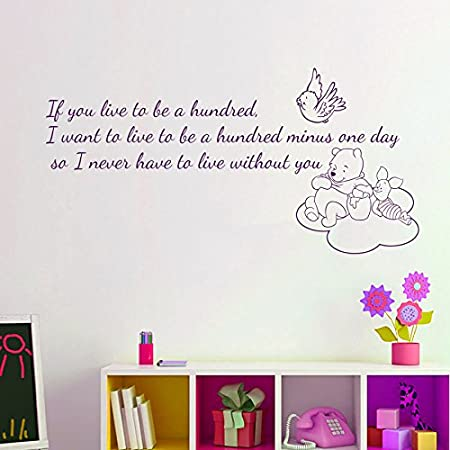 If you live to be a Hundred Vinyl Wall Home Decor Decal