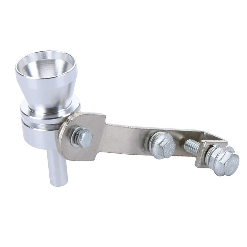 KKmoon Turbo Sound Whistle Exhaust Pipe Tailpipe Blow-off Valve Aluminum Silver 11.5/×3.5cm XL