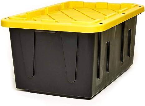 Homz 27-Gallon Durabilt Stackable Storage Container (2 pack)