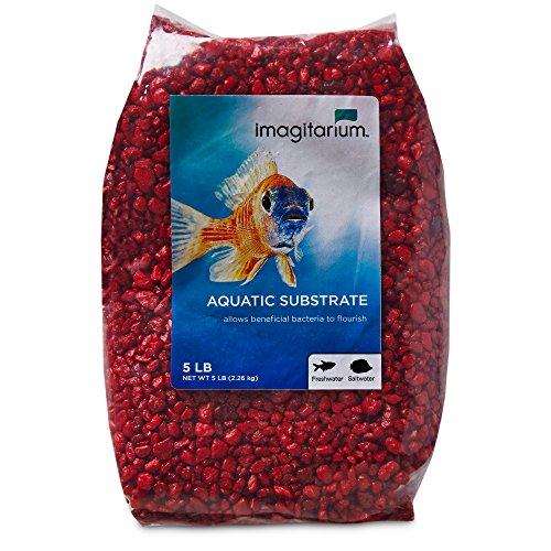 Imagitarium Strawberry Red Aquarium Gravel, 5 lbs