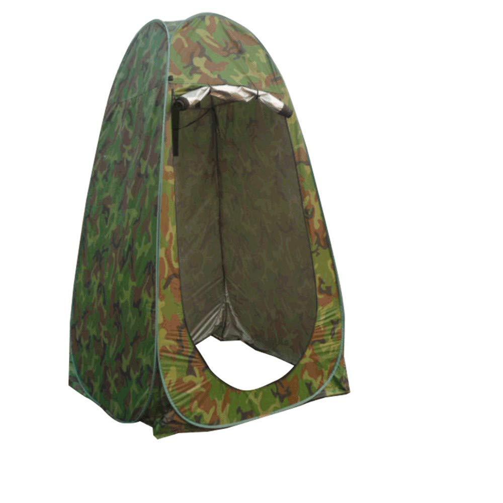 ポータブルキャンプシャワープライベートシングルポップアップテント屋外衣類釣り入浴 (Color : Camouflage green)  Camouflage green B07H47TBF8