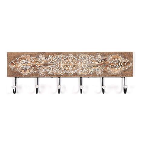 Ganchos para colgadores Perchero decorativo de madera maciza ...