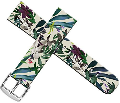 Strap Compatible for Apple Watch Series 4/3/2/1 38mm/40mm - ENDIY Designer Leather Fashionable Band Replacement for Iwatch - Many Vintage Leaves and Flowers