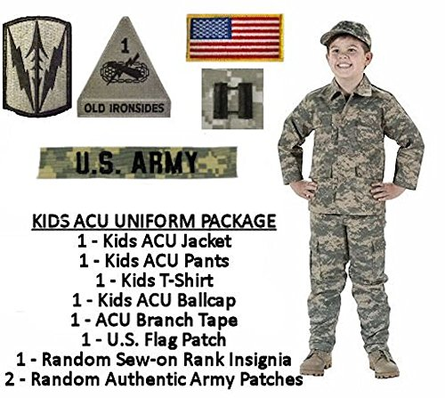 Kids Standard Military Uniform Package - ACU Digital - Medium (12) (Women Army Uniforms)