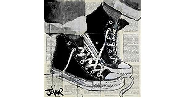 Loui Jover Never A Frown Vintage Shoes Converse Urban Print Poster 18x18