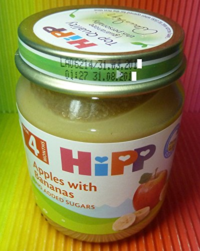 HIPP APPLES WITH BANANAS 1 JAR 125g FROM 4 MONTHS ,FRESH