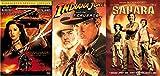 Adventure Family pack Legend of Zorro / Indiana Jones Last Crusade & Sahara Triple Feature Bundle 3 Movies