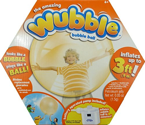 The Amazing Wubble Bubble Ball, Orange, Pump Included by NSI