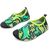 L-RUN Kid's Water Sports Shoes Quick Drying Swim Shoes Comfortable Green 6-7=EU 22-23