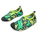 (US) L-RUN Kid's Athletic Water Shoes Aqua Socks Lightweight Green 11-11.5=EU 28-29