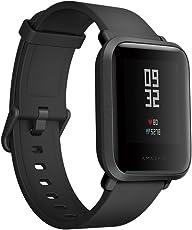 Xiaomi amazfit bip Smartwatch inteligente Bluetooth reloj de pulsera con GPS en tiempo real monitor de frecuencia cardíaca resistente al agua deportes Fitness Rastreador apoyo IOS y Android para niños hombre mujer/negro ónice US versión