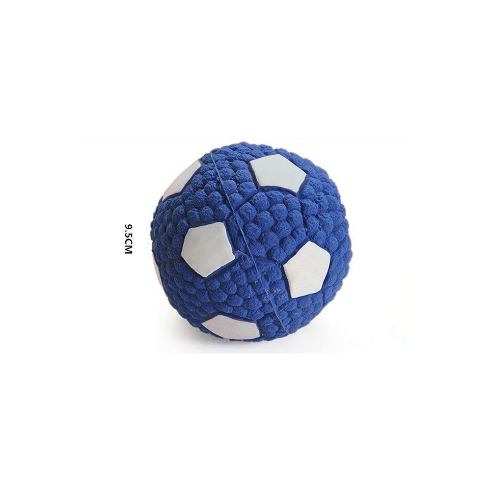 Giocattoli del cane Squeaky Balls indistruttibile Soft Latex galleggiante giocattolo Fetch Throw Toy Ball Squeaker Grande regalo per Pet piccolo cane noia