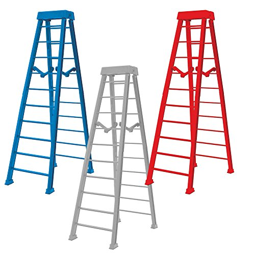 Large 10 Inch Breakaway Ladders for WWE Wrestling Action Figures: Red, Blue and Gray (Set of 3) by Figures Toy Company