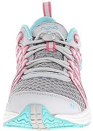 RYKA Women\'s Hydro Sport Water Shoe Cross-Training Shoe, Silver Cloud/Cool Mist Grey/Winter Blue/Pink, 8 M US