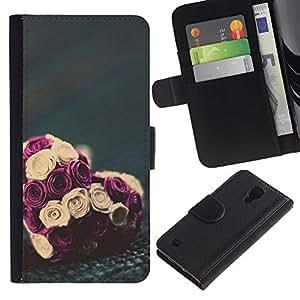 iBinBang / Flip Funda de Cuero Case Cover - San Valentín Ramo Floral - Samsung Galaxy S4 IV I9500