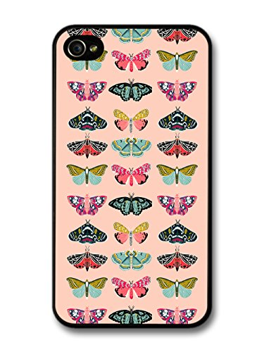 Cute Cool Butterfly Pink Pattern Illustration of Beautiful Insects case for iPhone 4 4S