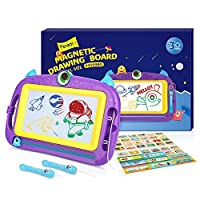 Peradix Magnetic Drawing Board for Toddlers, Portable for Travel with Mini and Large Size for You to Choose, 4 Colors Colorfule Board Magna Doodle, Pre-Shcool Toy for Toddlers Easy Erasable