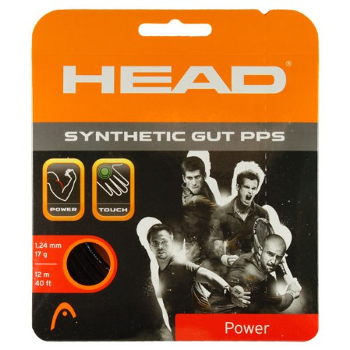HEAD Synthetic Gut PPS Tennis String (Black, 17g) ()