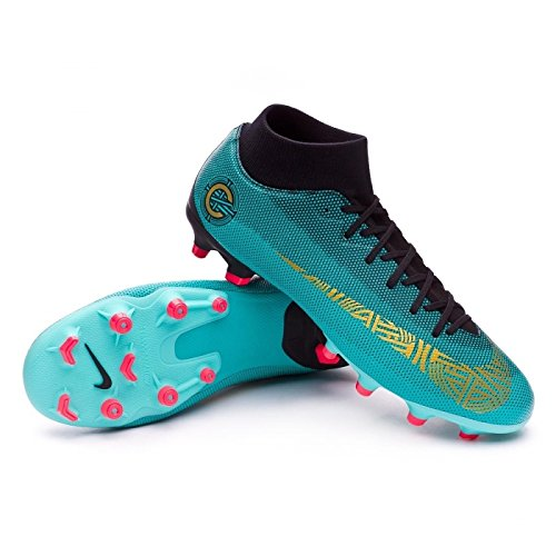 Nike Superfly 6 Academy Cr7 Mg Clear Jade/Metallic Vivid Gold Ankle-High Soccer Shoe - 11M 9.5M