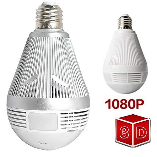 XUENUOS 360 Security WiFi Camera Lamp Panoramic Bulb with IP CCTV Video Surveillance Fisheye Hd Night Vision Two Way Audio (Best Night Vision Camcorder For Ufos)