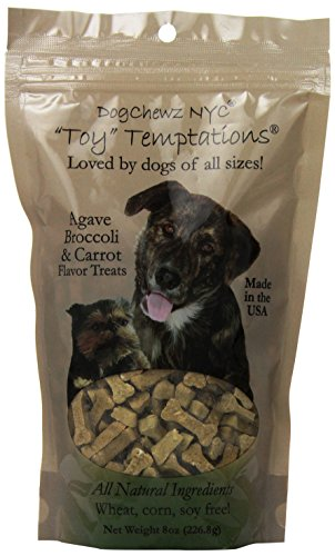 Cheap Dogchewz Nyc Toy Temptations All Natural Dog Treats, 8-Ounce, Agave/Broccoli/Carrot