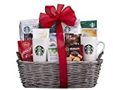 Wine Country Gift Baskets Starbucks Spectacular Coffee Lovers Gift Basket. Sampler Gourmet Basket For Holiday Cheer. Christmas Gift Basket, Family Gift Basket, Corporate Gift Basket, Cozy Gift Set