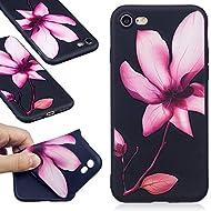 Nancen Coque Apple iPhone 7 (4,7 pouces), Ultra Mince Etui Housse Couverture Souple TPU Silicone Case Coque de protection , Anti-rayures et anti-poussière , Lotus