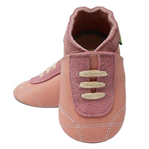 Sayoyo Baby Sneaker Hausschuhe Lauflernschuhe Leder Baby Mädchen Junge Babyschuhe 13 Stils Rosa